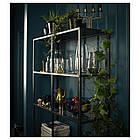 IKEA  VITTSJÖ (202.133.12) Стелаж, чорно-коричневий/скло 100x175 см, фото 6