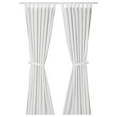 IKEA LENDA ( 500.901.16) Штори із зав'язками, 1 пара 140x300 см