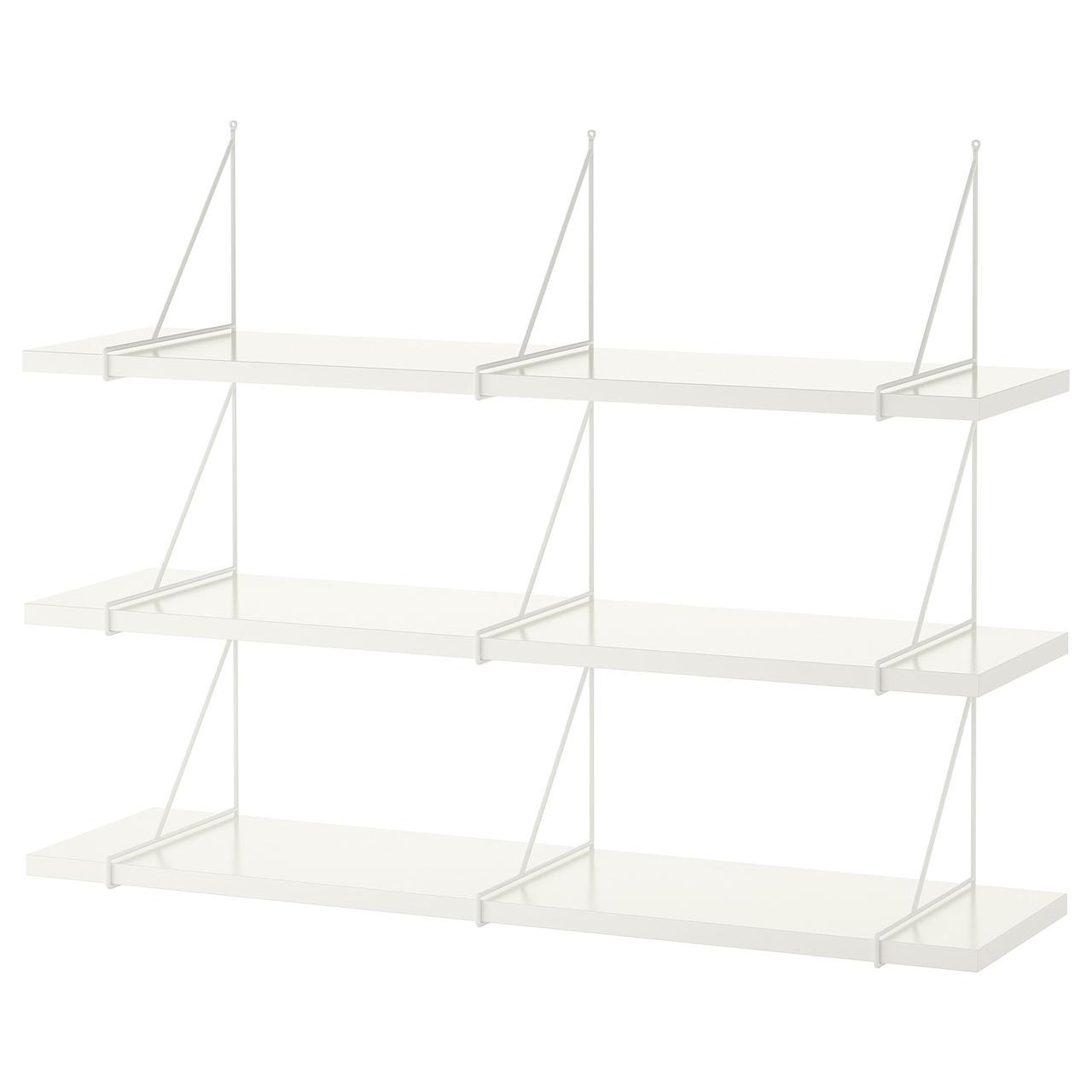 IKEA BERGSHULT / PERSHULT (592.911.58) Комбінація навісних полиць 120x30 см