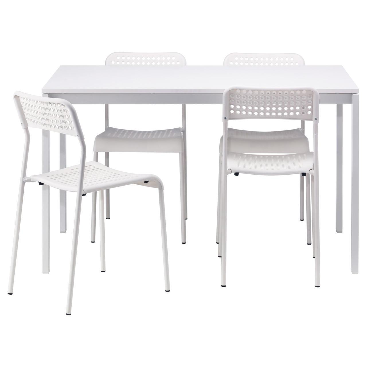 IKEA MELLTORP / ADDE (990.143.76) Стол и 4 стула