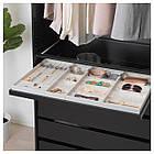 IKEA KOMPLEMENT (092.493.60) Висувна полиця із вставкою, чорно-коричневий 100x58 см, фото 3