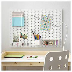 IKEA SKADIS (092.171.75) Комбінація перфорованої дошки, білий 76x56 см