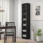 IKEA  OXBERG (192.873.99) Книжкова шафа зі скляними дверцятам, чорно-коричневий/скло 40x30x20 cм, фото 2
