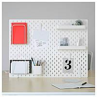 IKEA SKADIS (292.173.77) Перфорированная доска, белый