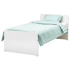 IKEA SLAKT (792.277.55) Кровать с решетчатым дном, белый