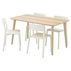 IKEA LISABO / JANINGE (491.032.47) Стіл+4 стільці 140x78 см