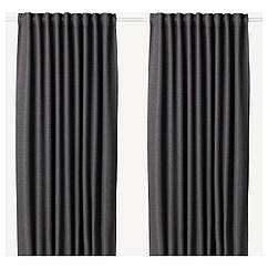 IKEA ANNAKAJSA ( 003.902.40) Світлонепроникні штори, пара, сірий145x300 см