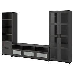 IKEA  BRIMNES (192.782.29) Комбінація шаф для тв/скляні дверц