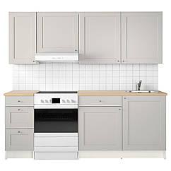 IKEA KNOXHULT (191.804.35) Кухня, сірий 220x61x220 см