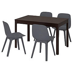 IKEA EKEDALEN / ODGER (692.212.97) Стіл+4 стільці 120/180 см