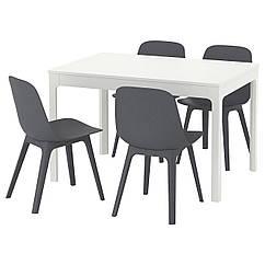 IKEA EKEDALEN / ODGER (692.213.44) Стіл+4 стільці 120/180 см