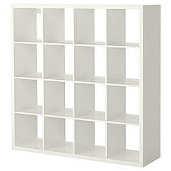 IKEA KALLAX (203.057.45)Стелаж, глянцевий білий 147x147 см