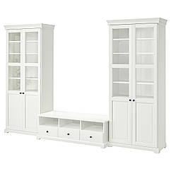 IKEA  LIATORP ( 290.460.45)  Комбінація шаф для телевізора