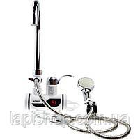 Проточный водонагреватель с боковым креплением и душем, фото 3