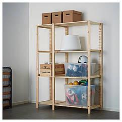 IKEA  IVAR ( 492.483.25) 2 секції/полиці 134x50x179 см