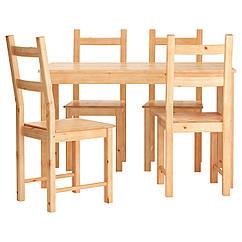 IKEA INGO / IVAR (490.973.50) Стіл+4 стільці 120 см
