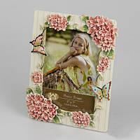 """Изысканная фоторамка """"Бабочки и цветы"""" 13х18 см фото"""