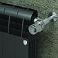 Радіатор біметал BiLiner 500 new 10 секцій/Noir Sable Royal Thermo, фото 3