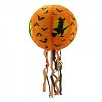 Декор подвесной (40см) оранжевый с ведьмой