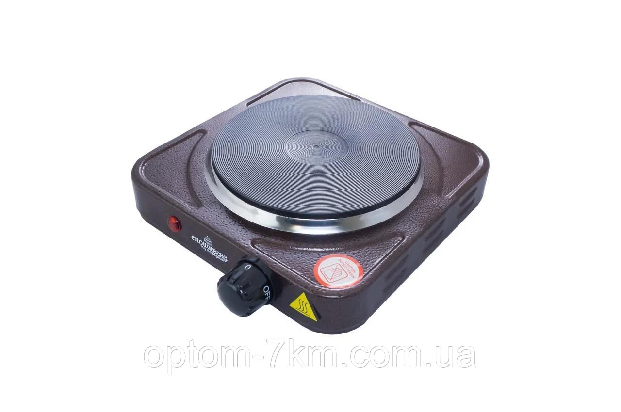 Плита электрическая Crownberg CB-3743 Дисковая 1000Вт am