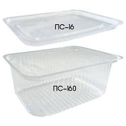Крышка ПС-16 для одноразового контейнера ПС-160 для салатов и полуфабрикатов - 20шт.
