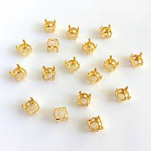Цапы (оправа) Круглый 6 мм. Золото