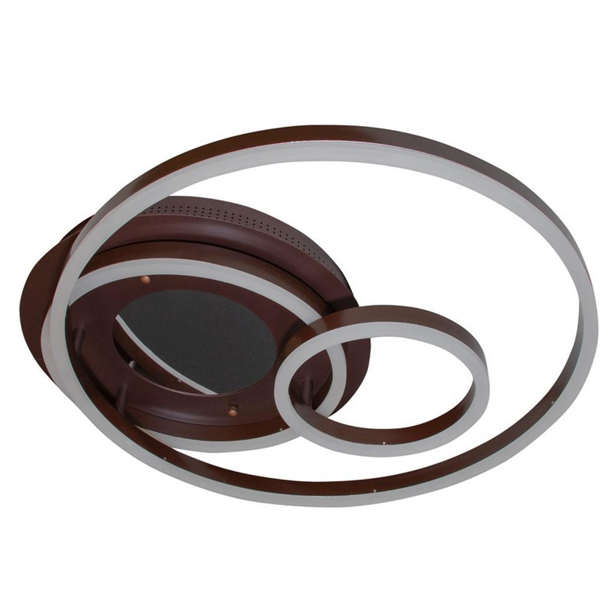 Led люстра круглая с 3D эффектом цвета коричневый белый серый 100W Линия солнца&55011/3 CF