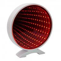 Светильник Бесконечность Круг (красный)