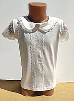 Нарядная школьная блуза футболка на девочку 6-9 лет Benini