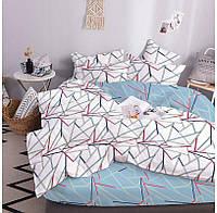 """Комплект постельного белья """"ТЕП"""" двуспальное евро 319 Geometric Blue, 70x70"""