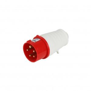 Вилка силова переносна ENERGIO 015 (3P+PE+N) 16A 380V IP44