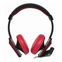 Навушники накладні провідні з мікрофоном Cosonic CH-6019MV Red Black