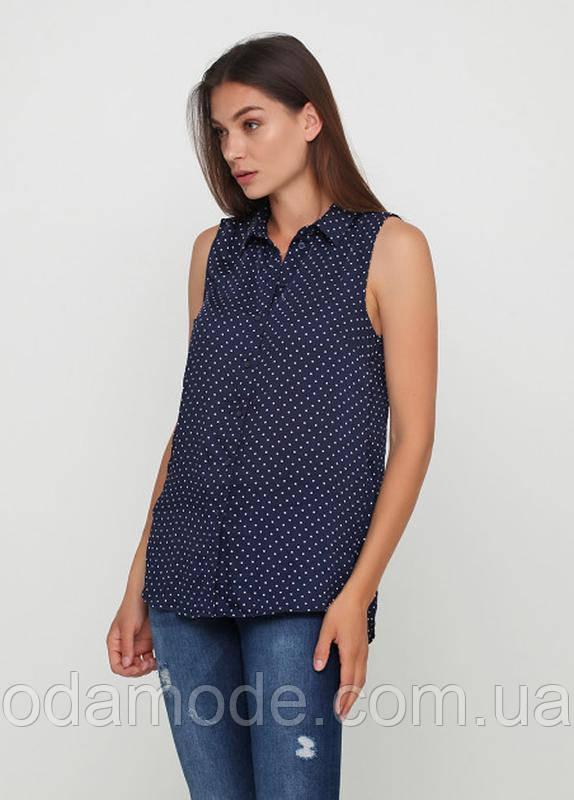 Блузка женская синяя в горох h&m