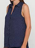 Блузка женская синяя в горох h&m, фото 2