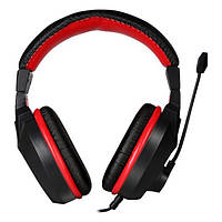 Навушники накладні провідні з мікрофоном Marvo H8321P Black/Red