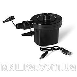 Портативный электрический USB насос на аккумуляторах 4.8V Bestway 62130 для надувных изделий