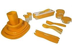 Набір для пікніка MHZ OM106-65 на 6 персон пластиковий, жовтий