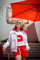Куртка ветровка белая детская девочке рост 134-176