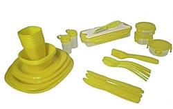 Набір для пікніка MHZ OM106-65 на 6 персон пластиковий, зелений
