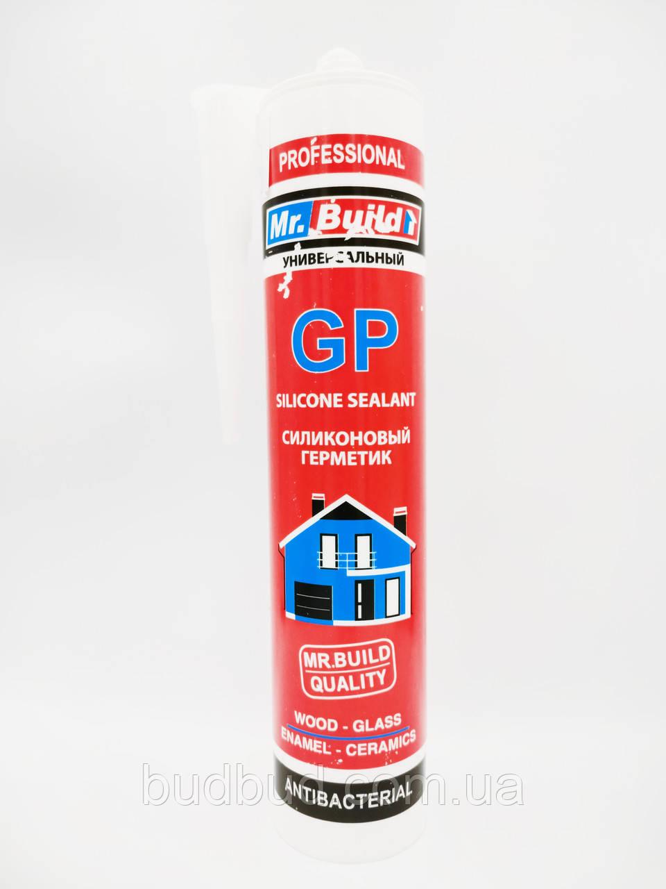 Mr.Build GP - универсальный силиконовый герметик серый, 280 мл.