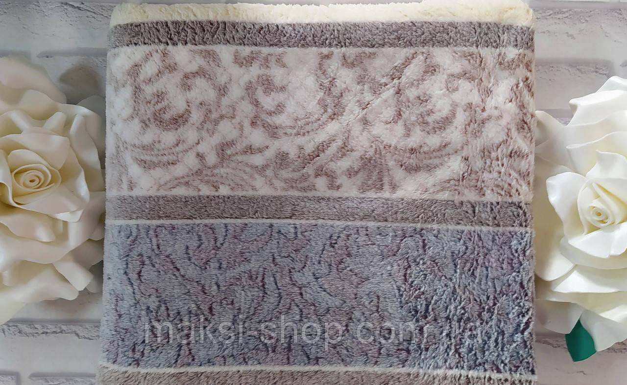 Мягкий плед покрывало махра в подарочной упаковке евро размер 200х210 см