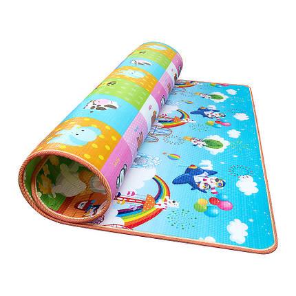 Развивающий детский коврик двухсторонний 4FIZJO KIDS 180 x 180 x 1 см 4FJ0162, фото 2