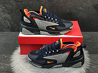 Кросівки чоловічі Nike Zoom 2K  темно сині з сірим та помаранчевим арт.9718