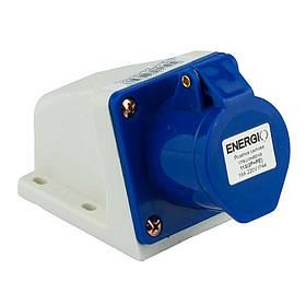 Розетка силова стаціонарна ENERGIO 113 (2P+PE) 16A 220V IP44