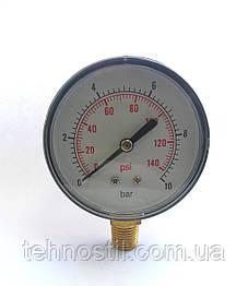 Манометр для насосной станции (радиальный) 0-10 бар