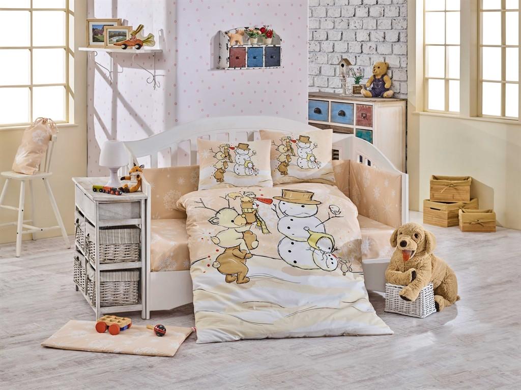 Детский комплект постельного белья  Poplin Snowball 100x150 (29320)