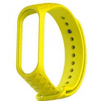 Ремешок Rhomb Design для фитнес-браслета Xiaomi Mi Band 3/4 Yellow