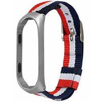 Ремешок для фитнес-браслета Xiaomi Mi Band 3/4 Fabric Strap Asphalt