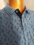 Мужская футболка поло Tony Montana. PSL-3266(g). Размеры: M,L,XL,XXL., фото 4