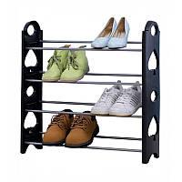Полка для обуви органайзер Amazing Stackable Shoe Rack, 4 полки на 12 пар